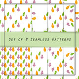 Classic collection of seamless patterns: leaves Royalty Free Stock Photography