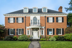 Classic colonial brick house Stock Photo