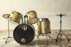 Classic color of drums musical tool Stock Photo