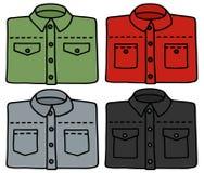 Classic color shirts Stock Photos