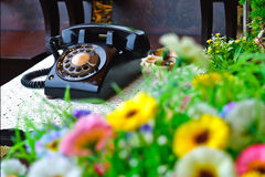 Classic  color telephone Royalty Free Stock Photos