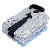 Classic colored men's shirts and ties Royalty Free Stock Image