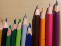 The classic colored pencils royalty free stock photo