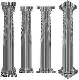 Classic Column Covered With Bar Code Zebra Stripes Vector Stock Image