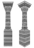 Classic Column Covered With Bar Code Zebra Stripes Vector Stock Photos