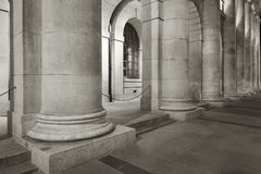 Classic column. Of old architecture Royalty Free Stock Photos