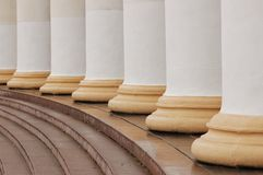 Classic columns. Architectural pattern of classic columns and steps Stock Photo