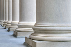Classic columns. Classic marble columns with lots of texture detail Royalty Free Stock Photography