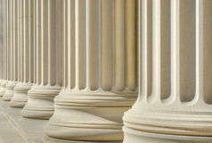 Classic columns background Stock Photos