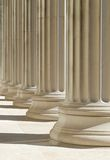 Classic columns background. High dynamic range image Stock Photos