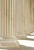 Classic columns background stock images