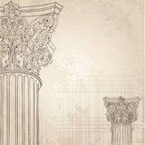 Classic columns background. Roman corinthian column. Il Stock Photography