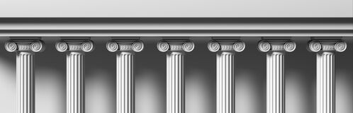 Free Classic Colums Marble Stone, Classical Building Facade. 3d Illustration Royalty Free Stock Image - 181814126