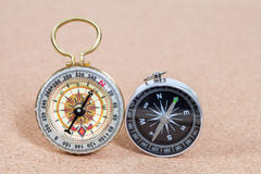 Classic compass , shallow Stock Photos