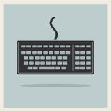 Classic Computer Keyboard Stock Photography