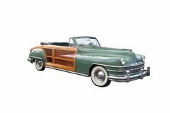 Classic convertible. Expensive classic green convertible automobile from the 1940s Royalty Free Stock Image