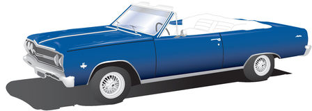 Classic Convertible. Vector illustration of a classic convertible vector illustration