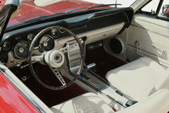 Classic Convertible. Interior of a classic American royalty free stock images