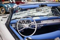 Classic Convertible Car. Classic american convertible car dashboard Royalty Free Stock Photo