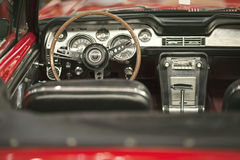 Classic Convertible Car. Classic american red convertible car Royalty Free Stock Photo