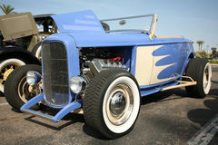 Classic convertible street rod at show Stock Photography