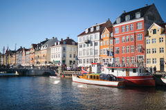 Classic Copenhagen Buildings in the sea bay Royalty Free Stock Photography