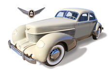 Classic Cord Automobile- isolated Royalty Free Stock Photos