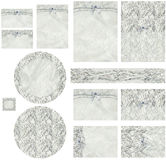 Classic Corded Lace and Pearl Invitation Set Stock Photography