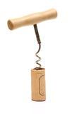 Classic corkscrew on white background Royalty Free Stock Photo