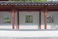 Classic corridor in Chinese garden Royalty Free Stock Photo