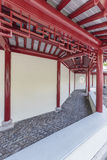 Classic corridor in Chinese garden Royalty Free Stock Photos