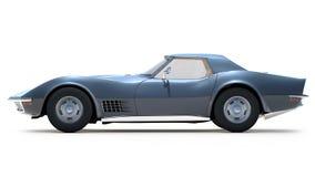 Classic Corvette (1970). 3D render of Chevrolet Corvette Z1 on white background Stock Photos