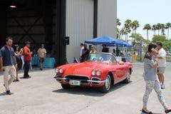 Classic corvette bing driven Royalty Free Stock Photography