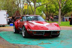 Classic Corvette car at the Good Guys Car show Stock Images