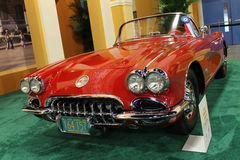 Classic Corvette on display Stock Photo
