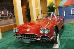 Classic Corvette on display Stock Image
