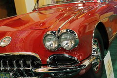 Classic Corvette front corner detail Royalty Free Stock Images