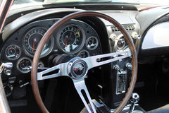 Classic corvette interior Stock Images