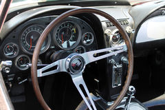 Classic corvette interior Royalty Free Stock Photo