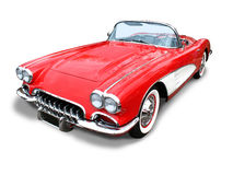 Classic Corvette Sports Car- isolated royalty free stock photos