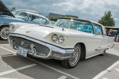 A classic cream Ford Thunderbird Royalty Free Stock Photos