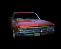 Classic cruiser. Classic car on black background Royalty Free Stock Photography