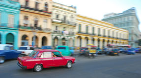 Classic Cuban Car with blurred background Stock Image
