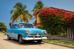 Classic cuban car Royalty Free Stock Image
