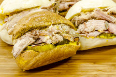 Classic Cuban Medianoche Sandwiches Royalty Free Stock Images