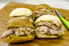Classic Cuban Medianoche Sandwiches Royalty Free Stock Photo
