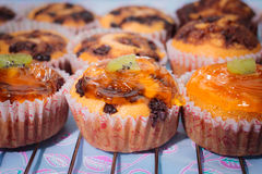 Classic Cupcakes. Classic home made orange Cupcakes Royalty Free Stock Photo