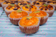 Classic Cupcakes. Classic home made orange Cupcakes Royalty Free Stock Photos
