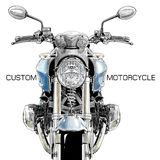Classic custom motorcycle Royalty Free Stock Images