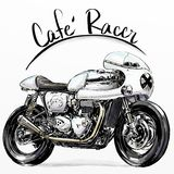 Classic custome motorcycle. Hand drawing of classic custome motorcycle Stock Images